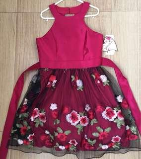 Floral dress -7y