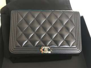 Chanel Le Boy Wallet on Chain
