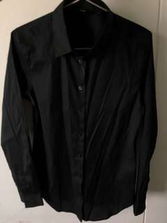 Black long sleeve formal shirt
