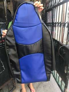 Customised German Leather Seat Cover for Wigo Gen1. Combi Royal Blue and Black.