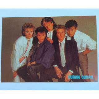 Rare Collectables, Icon, Music Titans, British band Duran Duran, Postcards for Collector, Limited Edition, Nick Rhodes, John Taylor, Andy Taylor, Roger Taylor and Simon Le Bon, the original Duran Duran