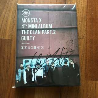 Monsta X Mwave Kihyun Signed Guilty Album