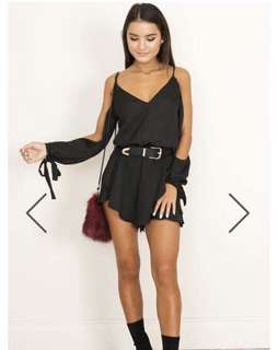Black playsuit size 8