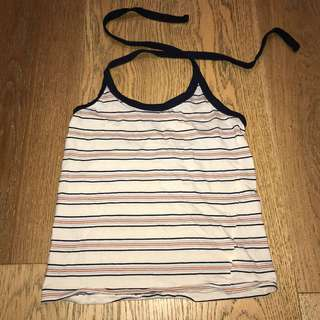 Patterned Halter Crop