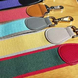 Canvas Bag Straps for all your beautiful bags. Genuine leather.