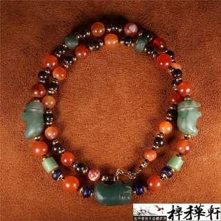 【驃珠】精品千年驃PYU時期動物多寶珠飾設計項鍊