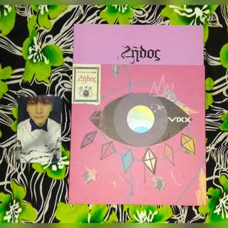 Unsealed Vixx Zelos Album with Hyuk Photocard