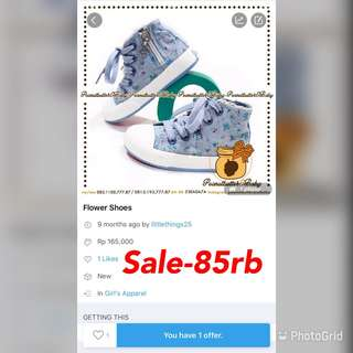 Sale-floral jeans sneakers
