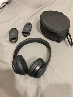 Beats solo 3 wireless 耳機 霧面黑