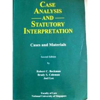 Case Analysis and Statutory Interpretation