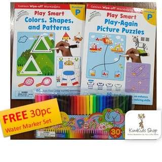 Play Smart (Set C) - Wipe clean Workbooks for Preschool