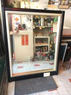 台南{舊箱子二手傢俱}高級掛鏡90*121限送台南市區