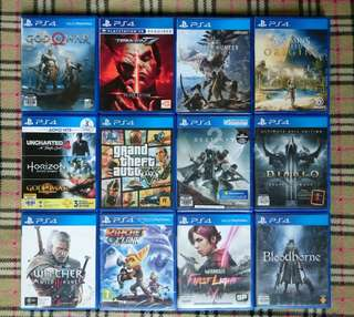 PS4 Games For Sale !!!