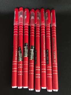 Brand new Quantum Skate III red ballpoint pens