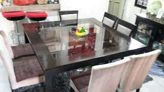 8-seater Dining Table with chairs (repriced)