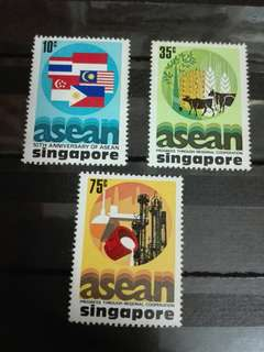 Singapore Stamps Asean 10 year Anniversary 1977