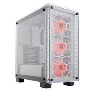 Corsair Crystal Series 460X RGB Compact ATX Mid-Tower Case — White