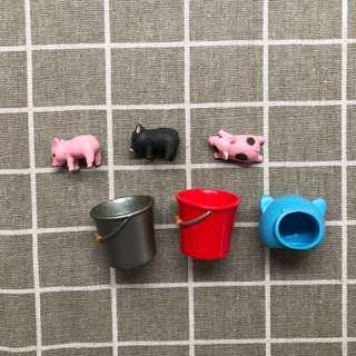🚚 小豬扭蛋 小豬水桶