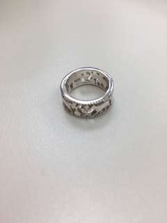 Horse Pattern Silver Ring