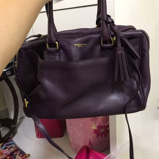 Coach Purple Rectangle Bag With Sling