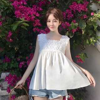 PO‼️CASUAL FLORAL LACE TOP