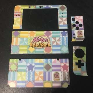 New Nintendo 3DS Kirby Skin + Cover Plates