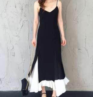 Dual-tone Beach Maxi Dress
