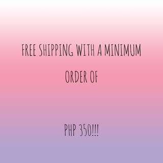 FREE SHIPPING WITH A MINIMUM ORDER OF 350 PESOS