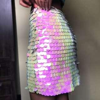 Sequined rainbow skirt