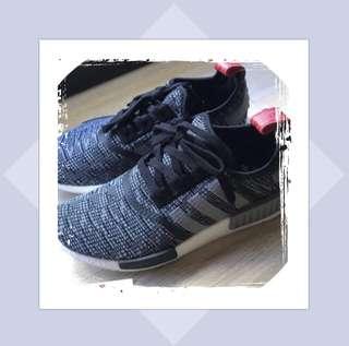 Authentic Adidas NMD R1 Glitch Black Grey