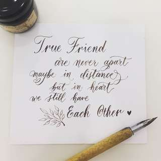 Calligraphy Written Notes / Quotes for Family & Friends