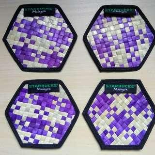 Starbucks Coasters - Malaysia Mengkuang Purple Reusable