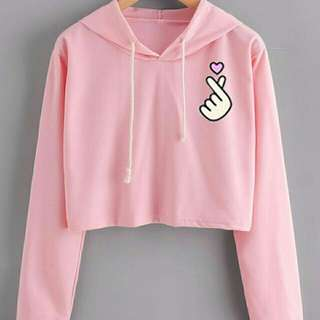 RESTOCK! XO - SWEATER SARANGE PINK x BAHAN BABYTERRY, ALLSIZE FIT TO L.