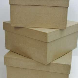 paper mache box set of 3