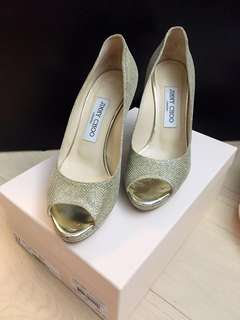 Jimmy Choo Lame Glitter Gold