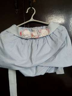 Ginger Snaps Skirt With A Adorable Flower Cotton Belt