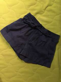 Forever 21 Dark blue shorts with ribbon detail