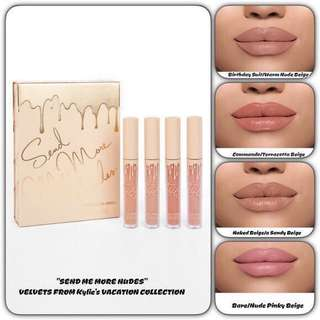 Kylie Velvet Lipcream 4pcs