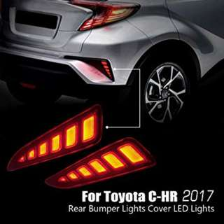 TOYOTA CHR REAR BUMPER REFLECTOR LED LIGHT