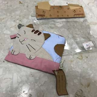 BNWT cat coin purse