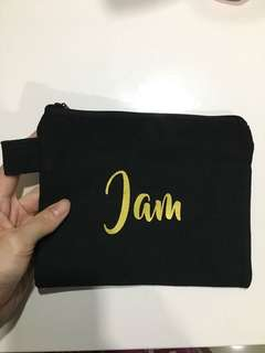 Black Denim Pouch