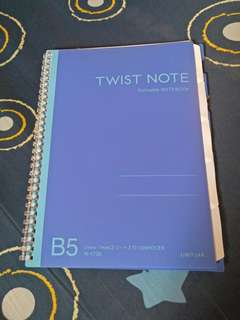 twist note refillable notebook