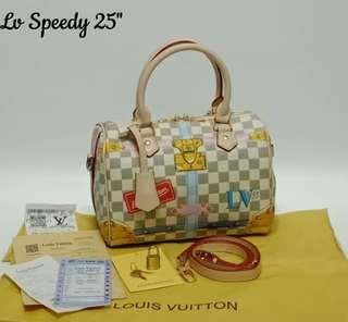 Louis Vuitton Speedy Bandouliere 25 Limited Edition Summer Trunks Azur
