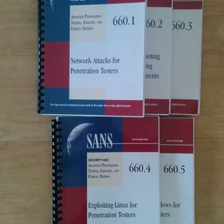 Old SANS textbooks to giveaway