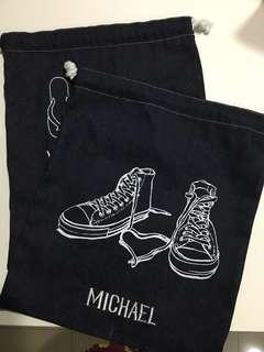 Denim Shoe Bag/Laundry Bag (2pcs)