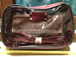 Parfois Leather and Clear Shoulder Bag with attachable strap