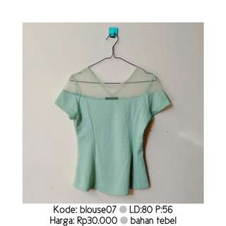 Mint&Co. Green Blouse