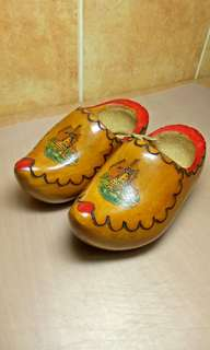 Pair of Vintage Holland Wooden Shoe.