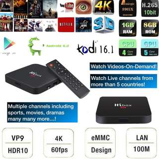 TV Hi-Box TV Box  700+  channels & Vido on demand