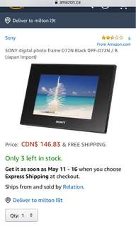 New sony digital frame